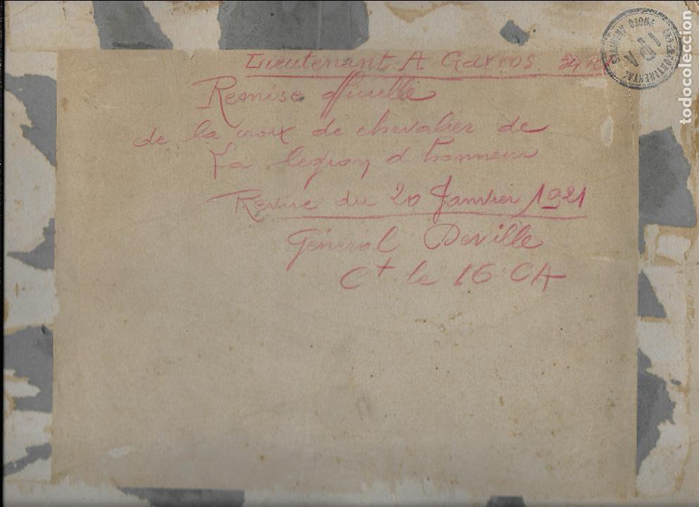 Militaria: FG-569. FOTOGRAFIA ORIGINAL.REVISIÓN DEL 20 DE ENERO DE 1921 GENERAL DEVILLE, CRUZ DE HONOR. - Foto 2 - 98358407