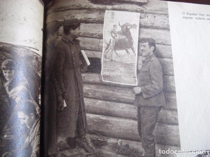 Militaria: Libro División Azul- Voluntarios Españoles en el frente del Este. Firma General - Foto 4 - 98664971