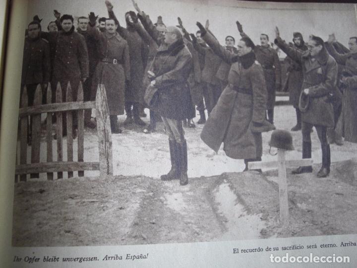 Militaria: Libro División Azul- Voluntarios Españoles en el frente del Este. Firma General - Foto 5 - 98664971