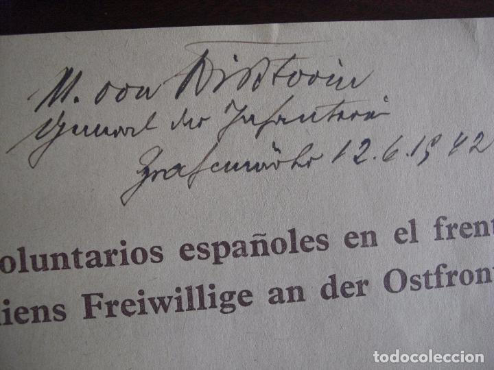 Militaria: Libro División Azul- Voluntarios Españoles en el frente del Este. Firma General - Foto 6 - 98664971