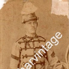 Militaria: MILITAR DE CABALLERÍA CON SABLE Y CASCO - FOTOGRAFÍA DE LA ALFALFA - SEVILLA - FIN SIGLO XIX. Lote 98781019