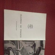 Militaria: TARJETA DOBLE FRANCISCO FRANCO. Lote 98794990