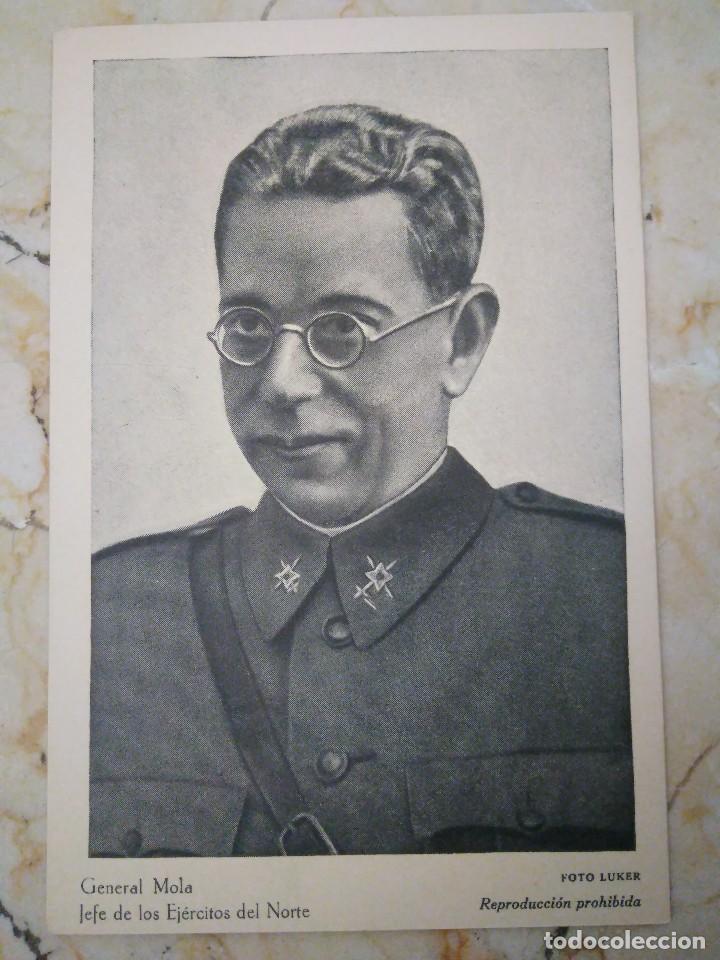 GENERAL MOLA. FOTO LUKER. (Militar - Fotografía Militar - Guerra Civil Española)