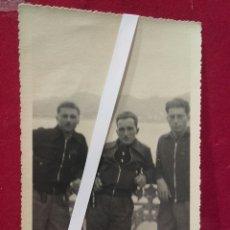 Militaria: GUERRA CIVIL, SOLDADOS ITALIANOS DE TANQUES EN EL MONTE IGUELDO, SAN SEBASTIÁN 1936. Lote 99083451