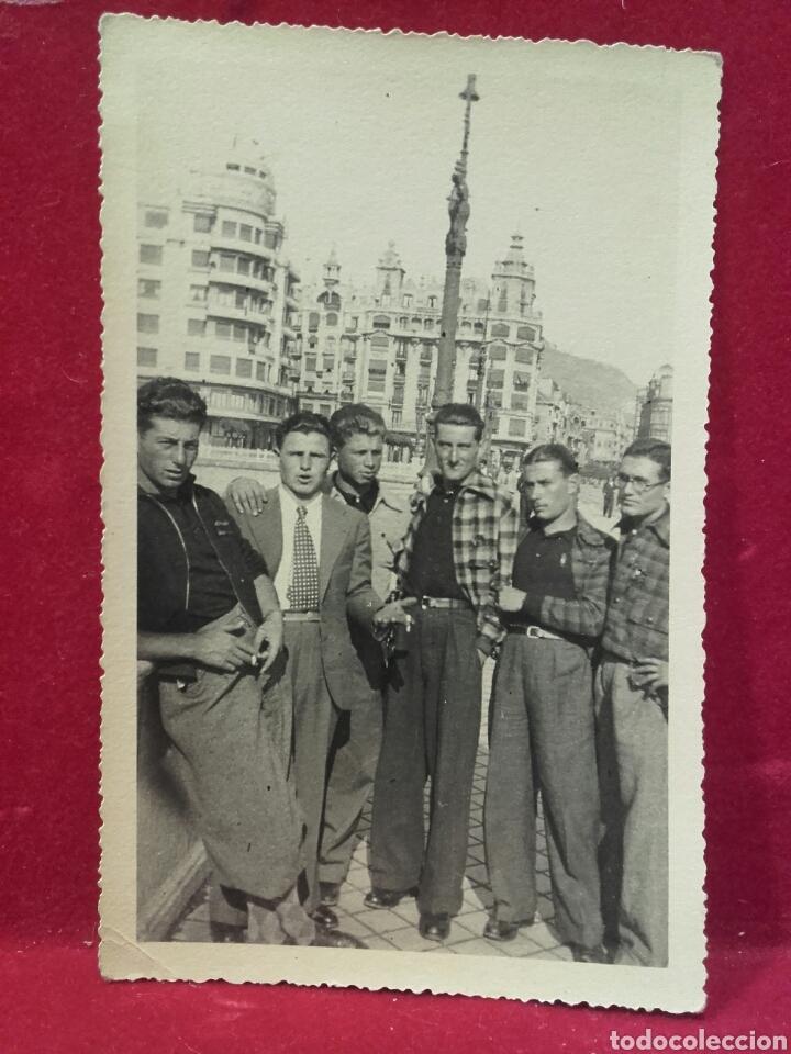 GUERRA CIVIL, PORCIÓN DE LA COMPAÑÍA ITALIANA DE TANQUES EN SAN SEBASTIÁN (Militar - Fotografía Militar - Guerra Civil Española)