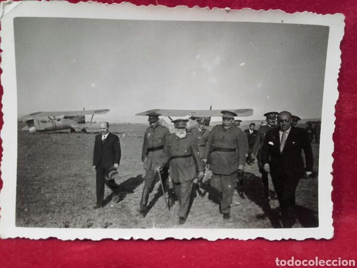GUERRA CIVIL. FOTO INÉDITA. GENERALES MOLA, SALIQUEL, CABANELLAS Y QUEIPO DE LLANO. (Militar - Fotografía Militar - Guerra Civil Española)