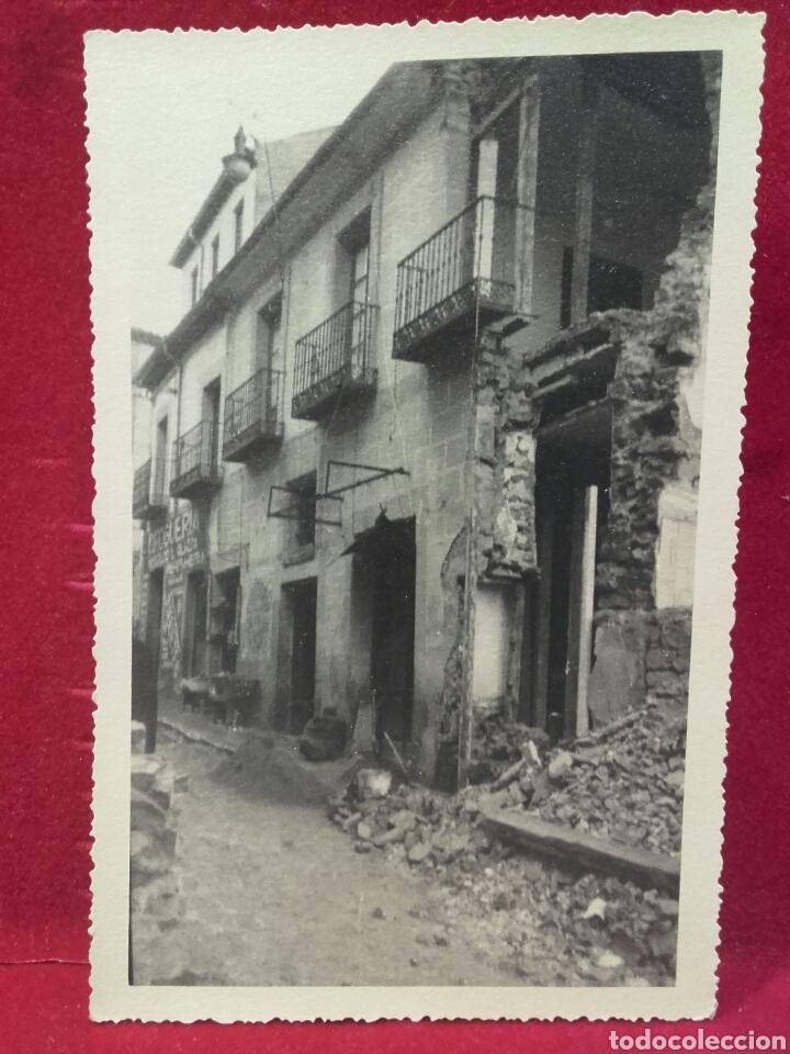 GUERRA CIVIL, SIGÜENZA, EFECTOS DE LAS BOMBAS, NOV. 1936 (Militar - Fotografía Militar - Guerra Civil Española)