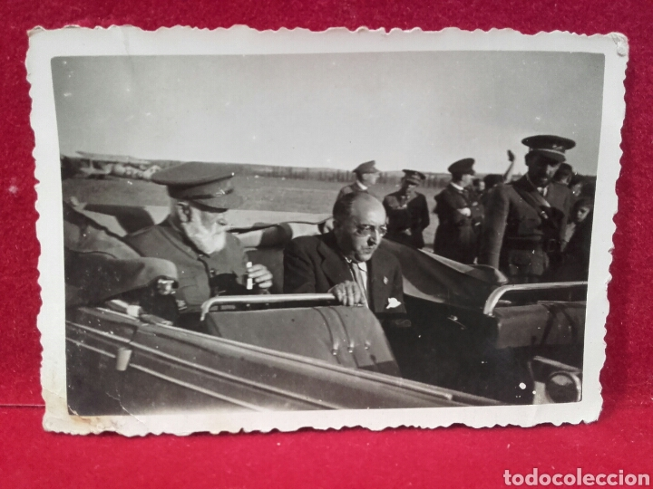 GUERRA CIVIL, GENERAL CABANELLAS EN EL AERÓDROMO DE GETAFE (Militar - Fotografía Militar - Guerra Civil Española)
