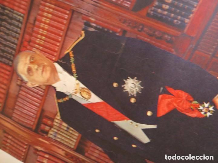 Militaria: RARO GRAN RETRATO OFICIAL DEL GENERAL DE GAULLE COMO PRESIDENTE DE LA REPUBLICA FRANCESA. AÑOS 60. - Foto 3 - 99187215