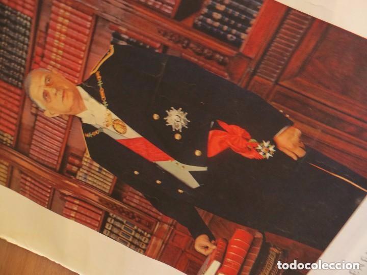Militaria: RARO GRAN RETRATO OFICIAL DEL GENERAL DE GAULLE COMO PRESIDENTE DE LA REPUBLICA FRANCESA. AÑOS 60. - Foto 5 - 99187215
