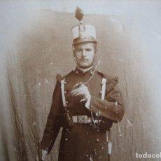Militaria: FOTOGRAFÍA SOLDADO ARTILLERÍA DEL EJÉRCITO ESPAÑOL. ALFONSO XIII. Lote 99392867