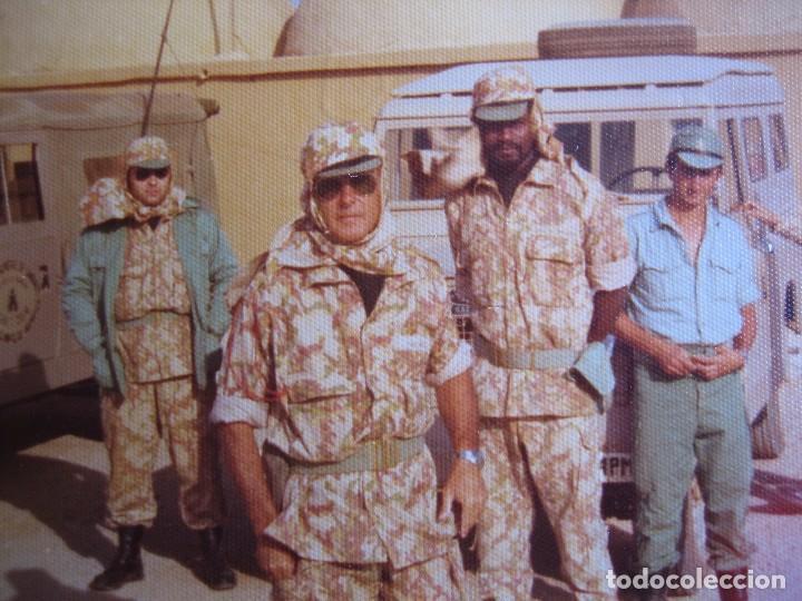 FOTOGRAFÍA LEGIONARIOS. CAMUFLAJE LARGATO M-73 SÁHARA ESPAÑOL (Militar - Fotografía Militar - Otros)