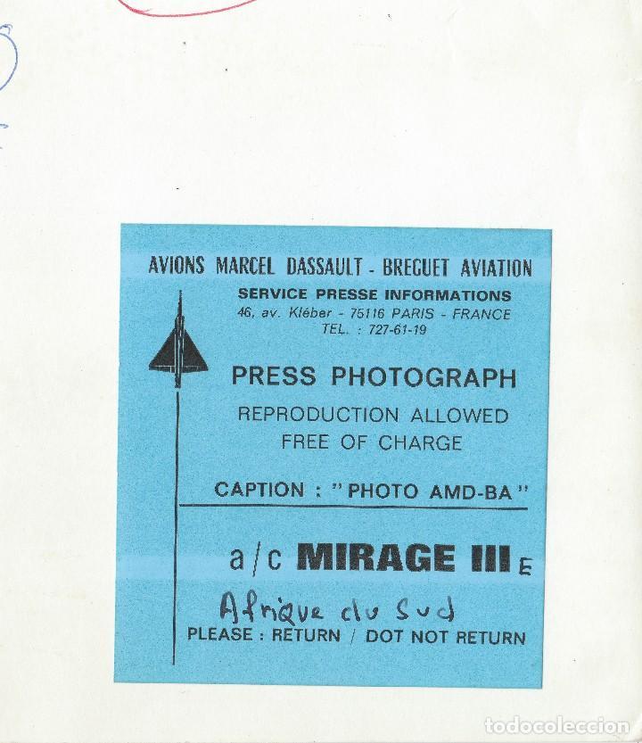 Militaria: Fantástica foto Avions Marcel Dassault - Breguet Aviations 70s. Cazabombardero Mirage III EZ2 820. - Foto 2 - 99601747