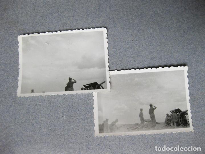 PAREJA DE FOTOGRAFIAS DE CAÑONES DE ARTILLERIA DE LA GUERRA CIVIL O INMEDIATA POSTGUERRA (Militar - Fotografía Militar - Guerra Civil Española)