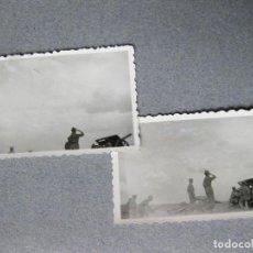 Militaria: PAREJA DE FOTOGRAFIAS DE CAÑONES DE ARTILLERIA DE LA GUERRA CIVIL O INMEDIATA POSTGUERRA. Lote 99621443