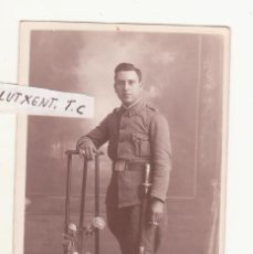 Militaria: FOTO SOLDADO PRINCIPIOS DE SIGLO SOBRE 1900. Lote 99735763