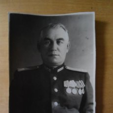 Militaria: ANTIGUA FOTOGRAFIA TARJETA IDENTIDAD OFICIAL RUSO - EPOCA SEGUNDA GUERRA MUNDIAL. Lote 99996131