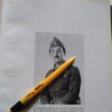 Militaria: ANTIGUA LAMINA CAUDILLO FRANCISCO FRANCO TENIENTE CORONEL . Lote 100208339