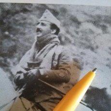 Militaria: ANTIGUA LAMINA CAUDILLO FRANCISCO FRANCO TENIENTE CORONEL A CABALLO. Lote 100208483
