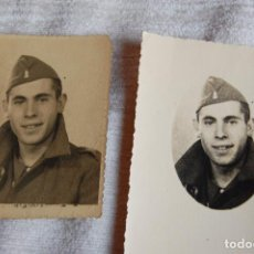 Militaria: DOS RETRATOS SOLDADO INGENIEROS GUERRA CIVIL. Lote 101185719