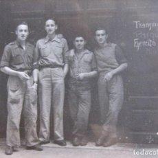 Militaria: FOTOGRAFÍA SOLDADOS DEL EJÉRCITO NACIONAL. TRANSMISIONES PARQUE EJÉRCITO BARCELONA 5-1939. Lote 101709899