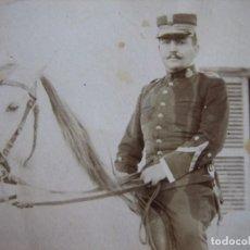 Militaria: FOTOGRAFÍA TENIENTE CABALLERÍA DEL EJÉRCITO ESPAÑOL. ALFONSO XIII. Lote 101712207