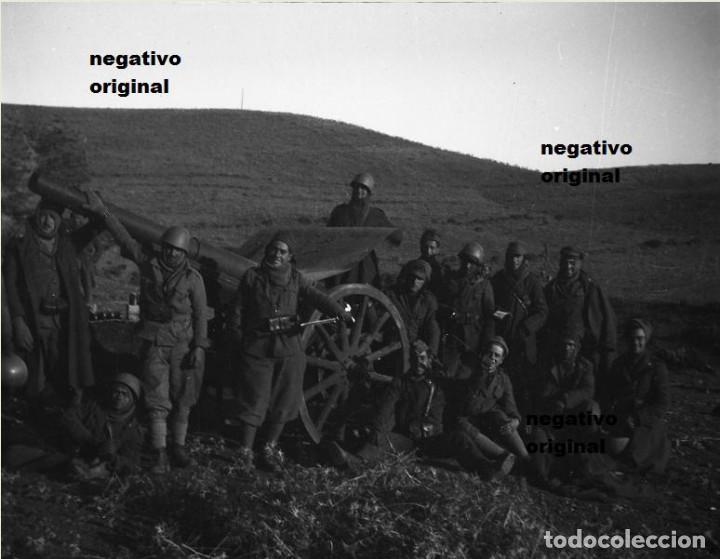 NEGATIVO ORIGINAL LEGION CONDOR ARTILLERIA NACIONAL TERUEL GUERRA CIVIL (Militar - Fotografía Militar - Guerra Civil Española)