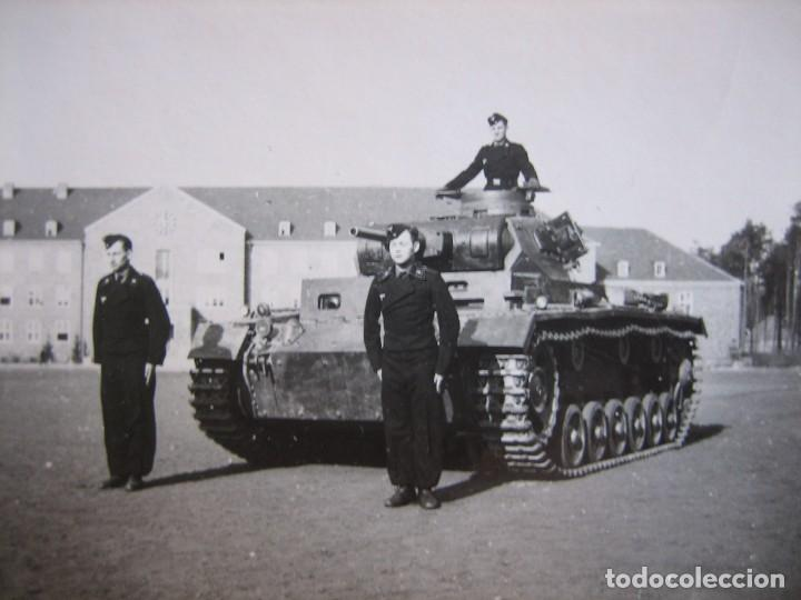 FOTOGRAFÍA CARRISTAS DEL EJÉRCITO ALEMÁN. WEHRMACHT (Militar - Fotografía Militar - II Guerra Mundial)