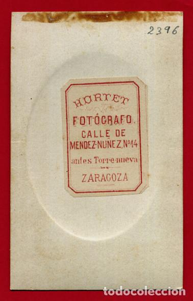 Militaria: FOTOGRAFIA TARJETA CARTA DE VISITA, MILITAR , FOTO HORTET ZARAGOZA , ORIGINAL ,TV2396 - Foto 2 - 101731623