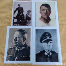 Militaria: LOTE 4 FOTOS,HITLER,OTTO GILLE,M.WITMANN,GUDERIAN. Lote 101779539