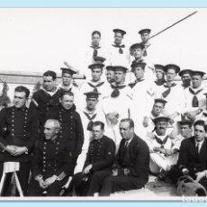 Militaria: DOTACIÓN DEL TORPEDERO 21. CARTAGENA, CA 1930. FOTO CASAÚ - COPIA AÑOS 1970. Lote 102282915