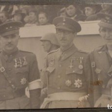 Militaria: ANTIGUA FOTOGRAFIA.TRES MILITARES CONDECORADOS.FOTO ADOLFO ARMAN.OVIEDO.AÑOS 30,40?. Lote 102397179
