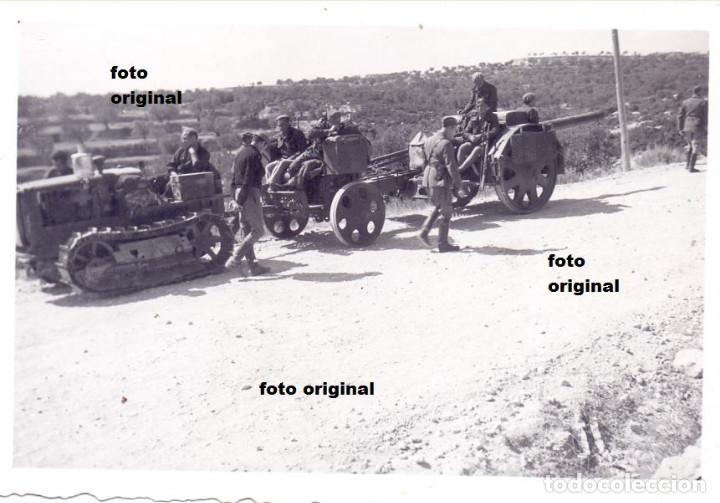 TRASLADO ARTILLERIA LEGION CONDOR CERCA GANDESA(TARRAGONA) GUERRA CIVIL (Militar - Fotografía Militar - Guerra Civil Española)