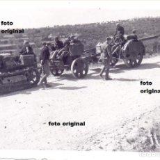 Militaria: TRASLADO ARTILLERIA LEGION CONDOR CERCA GANDESA(TARRAGONA) GUERRA CIVIL. Lote 102450707