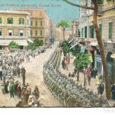 Militaria: EL CAIRO-SOLDADOS BRITANICOS ATRAVESANDO KAMEL STREET- 1917-. Lote 102539507