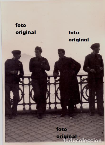SOLDADOS LEGION CONDOR PASEO DE LA CONCHA SAN SEBASTIAN 1938 GUERRA CIVIL (Militar - Fotografía Militar - Guerra Civil Española)