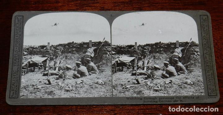 10 FOTOGRAFIAS ESTEREOSCOPICAS DE LA I GUERRA MUNDIAL. ED. REALISTIC TRAVELS, LONDON, NUM. 1 AL 10, (Militar - Fotografía Militar - I Guerra Mundial)