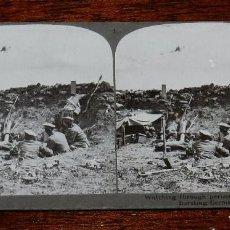 Militaria: 10 FOTOGRAFIAS ESTEREOSCOPICAS DE LA I GUERRA MUNDIAL. ED. REALISTIC TRAVELS, LONDON, NUM. 1 AL 10,. Lote 103037399