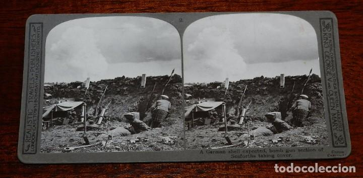 Militaria: 10 Fotografias estereoscopicas de la I Guerra Mundial. Ed. Realistic Travels, London, Num. 1 al 10, - Foto 2 - 103037399