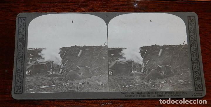 Militaria: 10 Fotografias estereoscopicas de la I Guerra Mundial. Ed. Realistic Travels, London, Num. 1 al 10, - Foto 3 - 103037399