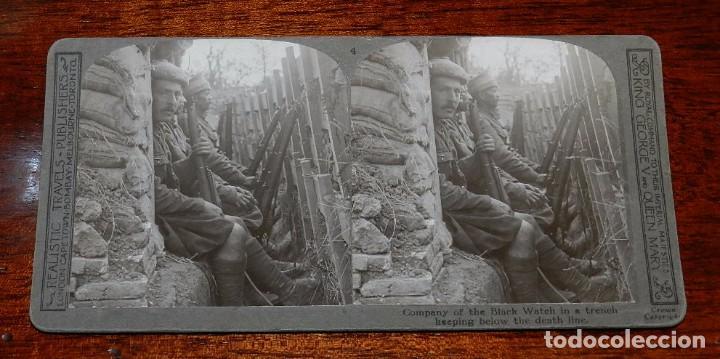 Militaria: 10 Fotografias estereoscopicas de la I Guerra Mundial. Ed. Realistic Travels, London, Num. 1 al 10, - Foto 4 - 103037399