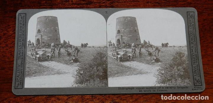 Militaria: 10 Fotografias estereoscopicas de la I Guerra Mundial. Ed. Realistic Travels, London, Num. 1 al 10, - Foto 7 - 103037399