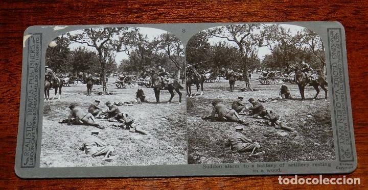 Militaria: 10 Fotografias estereoscopicas de la I Guerra Mundial. Ed. Realistic Travels, London, Num. 1 al 10, - Foto 8 - 103037399