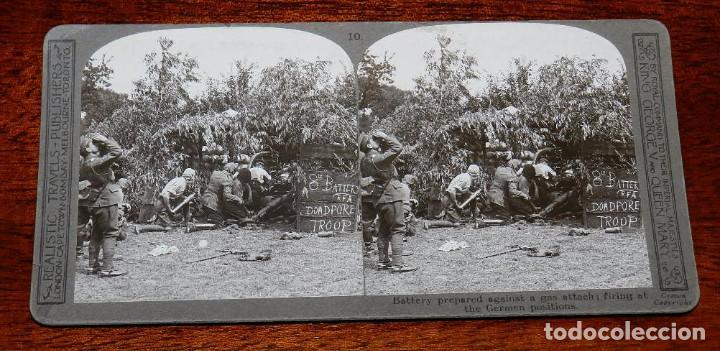 Militaria: 10 Fotografias estereoscopicas de la I Guerra Mundial. Ed. Realistic Travels, London, Num. 1 al 10, - Foto 10 - 103037399