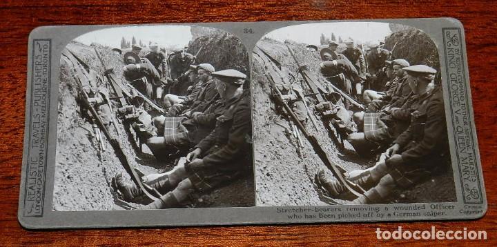 10 FOTOGRAFIAS ESTEREOSCOPICAS DE LA I GUERRA MUNDIAL. ED. REALISTIC TRAVELS, LONDON, NUM. 24, 25, 2 (Militar - Fotografía Militar - I Guerra Mundial)
