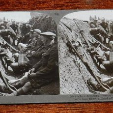 Militaria: 10 FOTOGRAFIAS ESTEREOSCOPICAS DE LA I GUERRA MUNDIAL. ED. REALISTIC TRAVELS, LONDON, NUM. 24, 25, 2. Lote 103038379