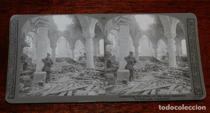 Militaria: 10 Fotografias estereoscopicas de la I Guerra Mundial. Ed. Realistic Travels, London, Num. 24, 25, 2 - Foto 2 - 103038379