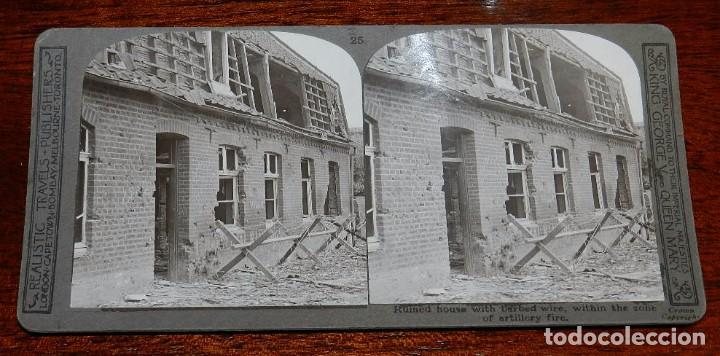 Militaria: 10 Fotografias estereoscopicas de la I Guerra Mundial. Ed. Realistic Travels, London, Num. 24, 25, 2 - Foto 3 - 103038379