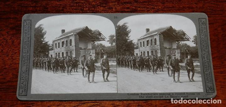 Militaria: 10 Fotografias estereoscopicas de la I Guerra Mundial. Ed. Realistic Travels, London, Num. 24, 25, 2 - Foto 8 - 103038379