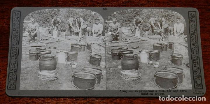 10 FOTOGRAFIAS ESTEREOSCOPICAS DE LA I GUERRA MUNDIAL. ED. REALISTIC TRAVELS, LONDON, NUM. 66, 67, 6 (Militar - Fotografía Militar - I Guerra Mundial)